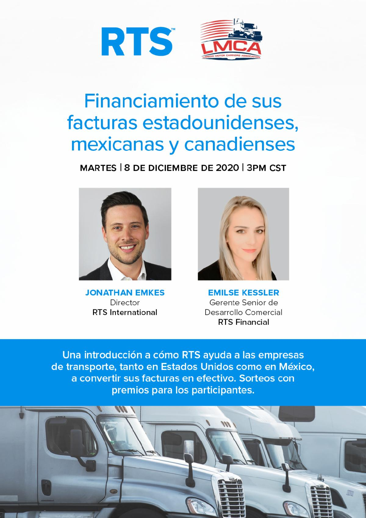 RTS Financiamiento de sus facturas Estadounidense, Mexicanas y Canadienses
