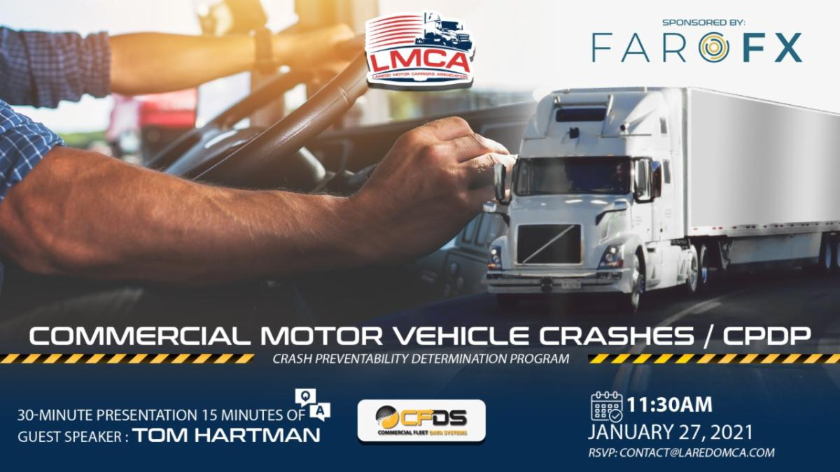 Join us! Commercial Motor Vehicle Crashes Sponsored By: FARO FX