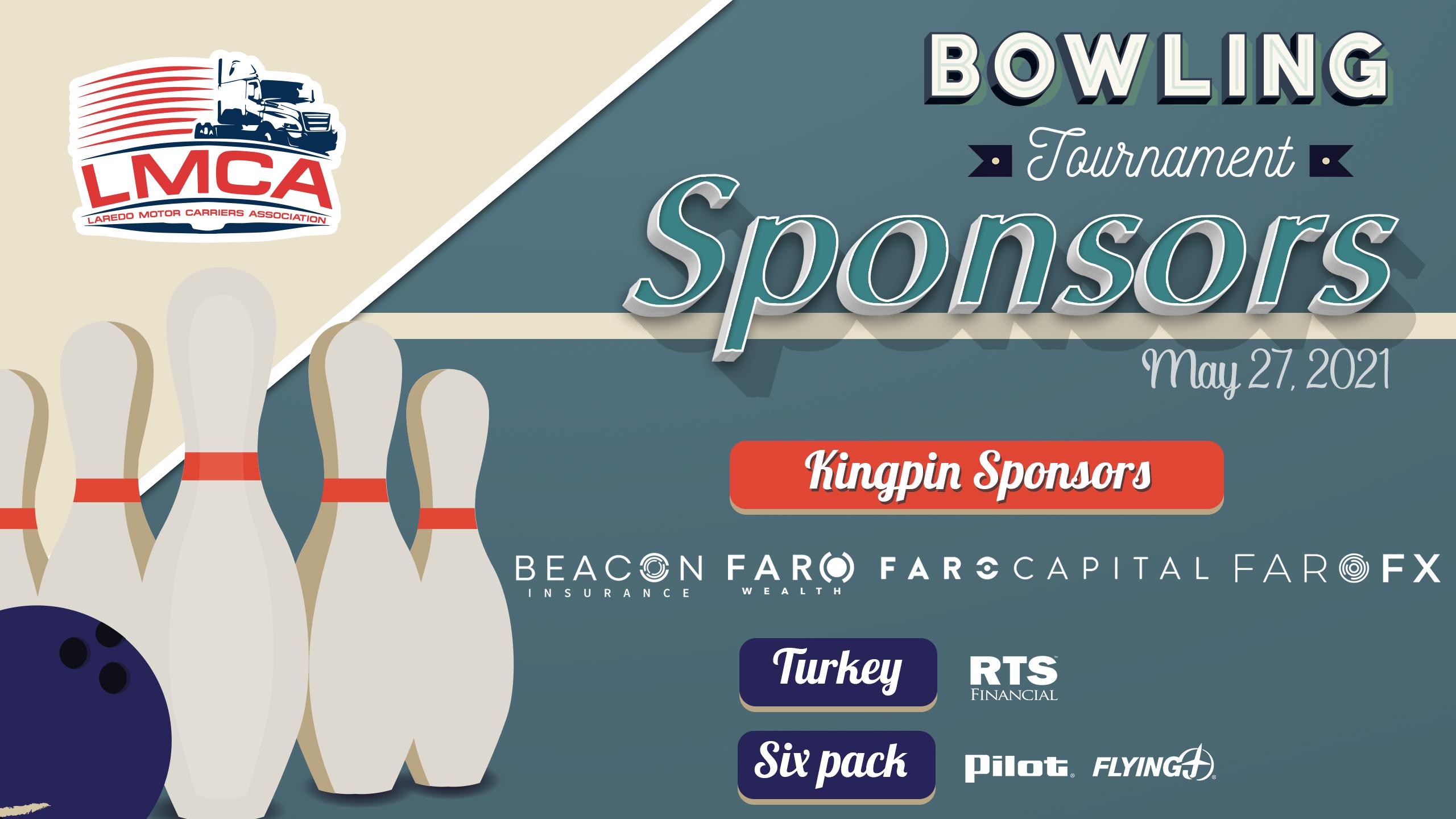 Bowling Tournament Sponsors